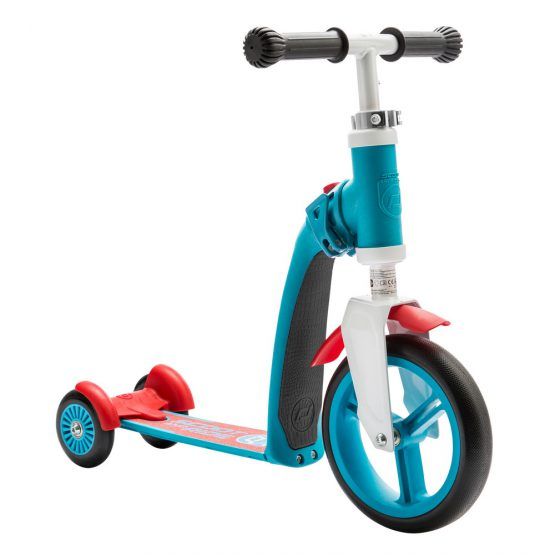 Детска тротинетка Scoot & Ride Highwaybaby+ 2 в 1, Синьо/Червена