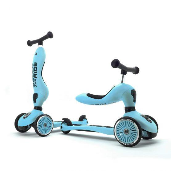 Детска тротинетка Scoot & Ride Highwaykick 1 2 в 1, Blueberry