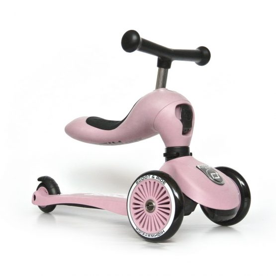 Детска тротинетка Scoot & Ride Highwaykick 1 2 в 1, Rose