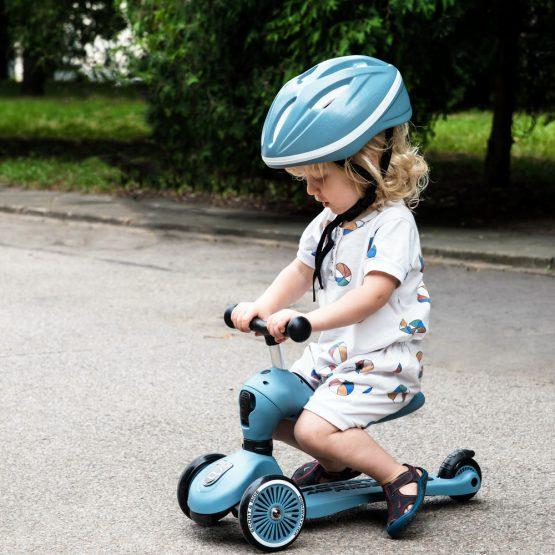 Детска тротинетка Scoot & Ride Highwaykick 1 2 в 1, Steel