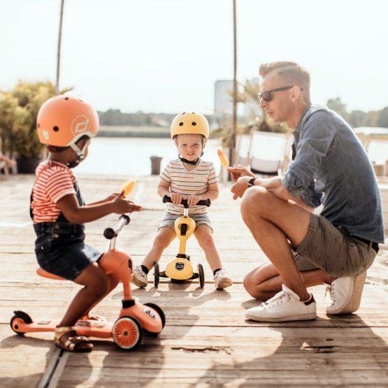 Детска тротинетка Scoot & Ride Highwaykick 1 2 в 1, Peach