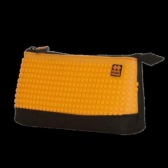 Несесер за моливи Pixie Crew PXA01, черен/оранжев
