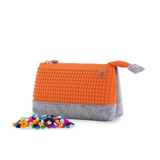 Несесер за моливи Pixie Crew PXA01, сив/оранжев