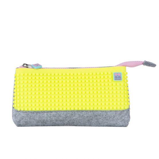 Несесер за моливи Pixie Crew PXA01, сив/жълт