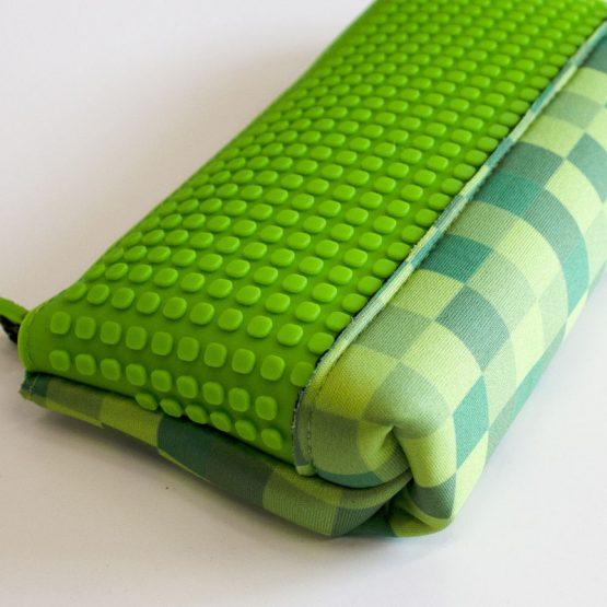 Несесер за моливи Pixie Crew PXA02, зелен каре Майнкрафт