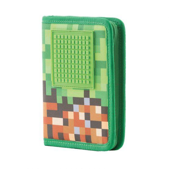 Несесер за моливи Pixie Crew PXA04, Mine&Craft/зелен