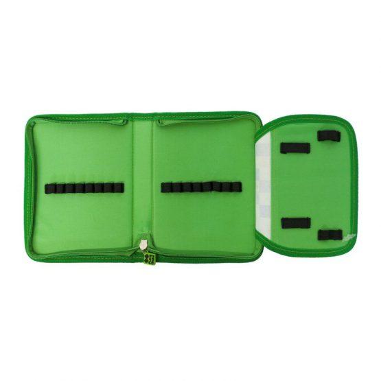 Несесер за моливи Pixie Crew PXA04, зелен/зелен
