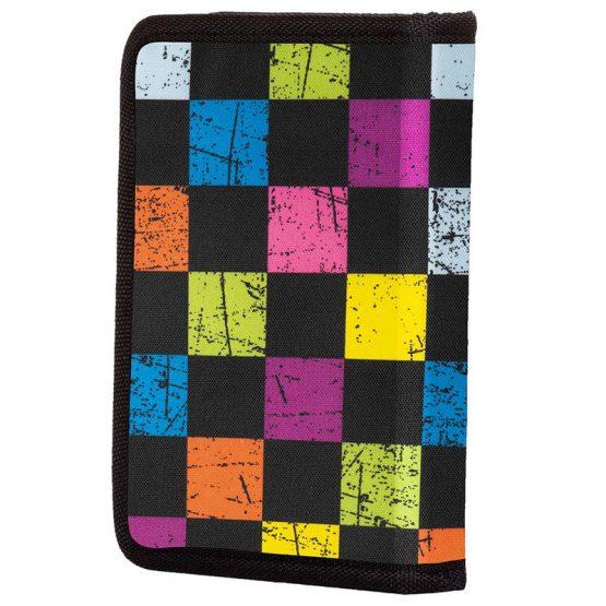 Несесер за моливи Pixie Crew PXA04, цветно каре/черен