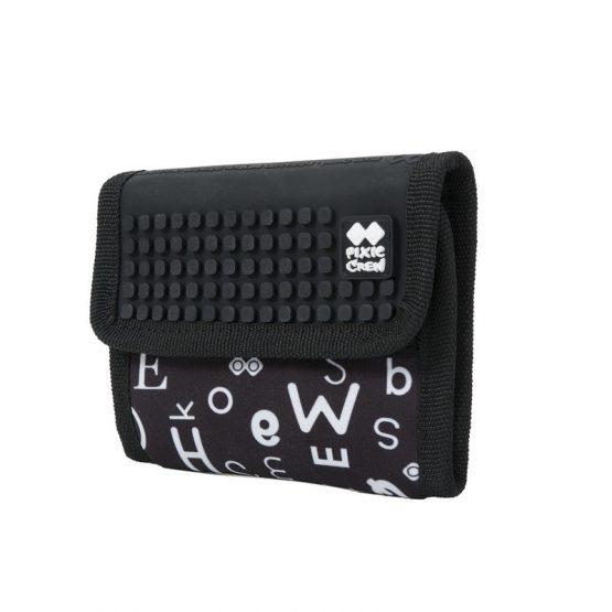 Портмоне Pixie Crew PXA10, черно с букви