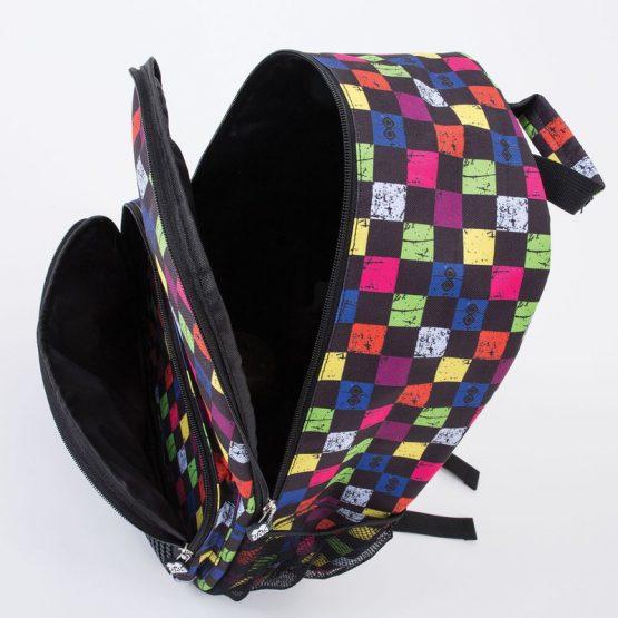 Раница Pixie Crew PXB02, цветно каре/черна