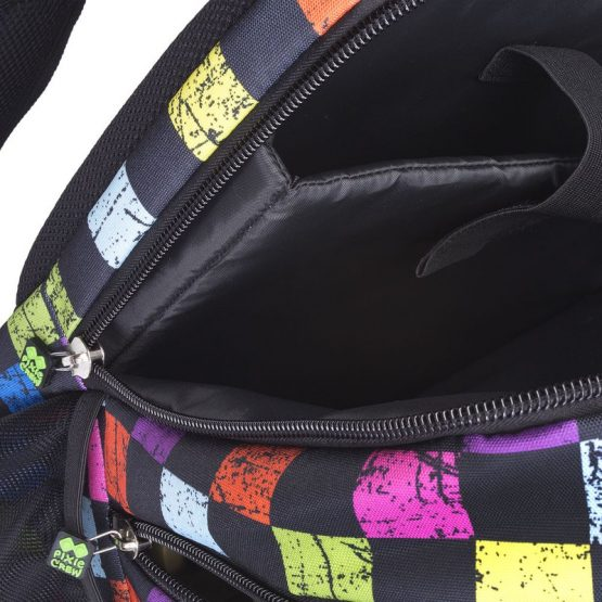 Раница Pixie Crew PXB06, цветно каре/черна