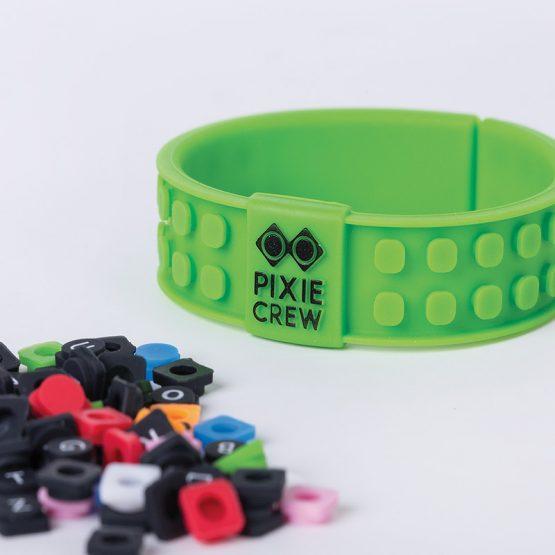 Силиконова гривна Pixie Crew PXX02, зелена/EMOJI