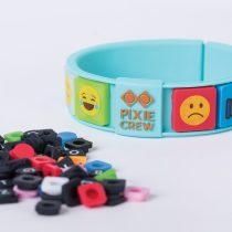 Силиконова гривна Pixie Crew PXX02, тюркоаз/EMOJI