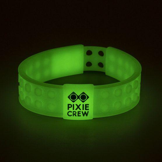 Силиконова гривна Pixie Crew PXX02, светеща в тъмното/EMOJI