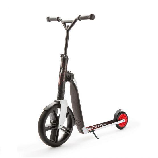 Детска тротинетка Scoot & Ride Highwaygangster, 2 в 1: скутер и колело за баланс, червено/черно