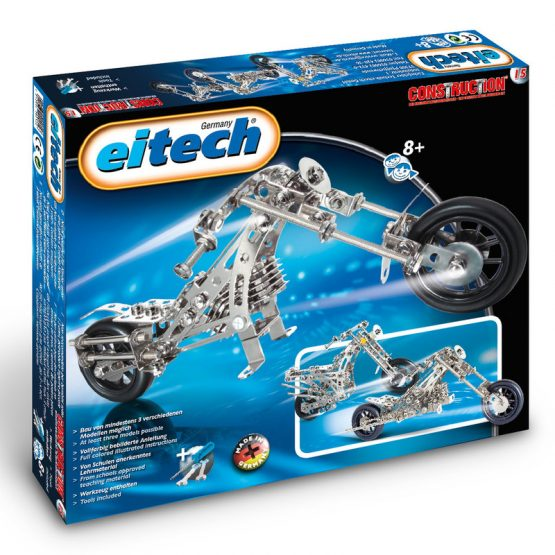 Конструктор Eitech Мотоциклет| Чопър, 3 модела
