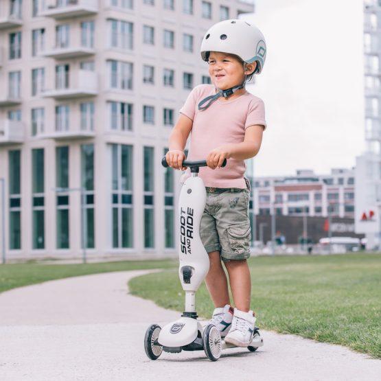 Детска каска Scoot & Ride, Крем
