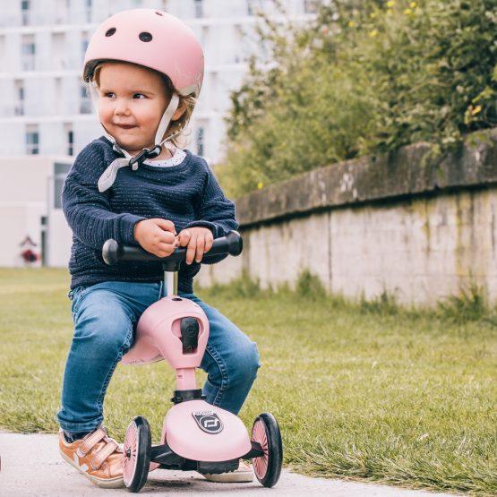Детска каска Scoot & Ride, Перлено розова