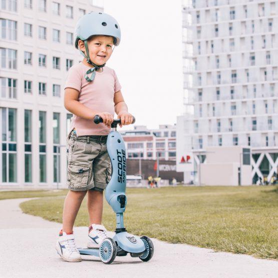 Детска каска Scoot & Ride, Стоманено синя