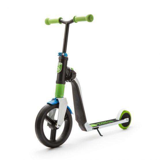 Детска тротинетка Scoot & Ride Highwayfreak, 2 в 1: скутер и колело за баланс, зелено/черно