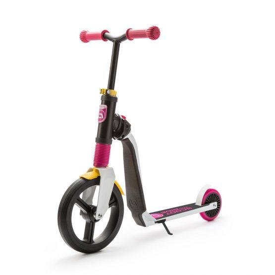 Детска тротинетка Scoot & Ride Highwayfreak, 2 в 1: скутер и колело за баланс, розово/черно
