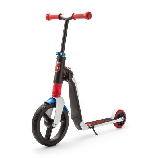 Детска тротинетка Scoot & Ride Highwayfreak, 2 в 1: скутер и колело за баланс, червено/черно