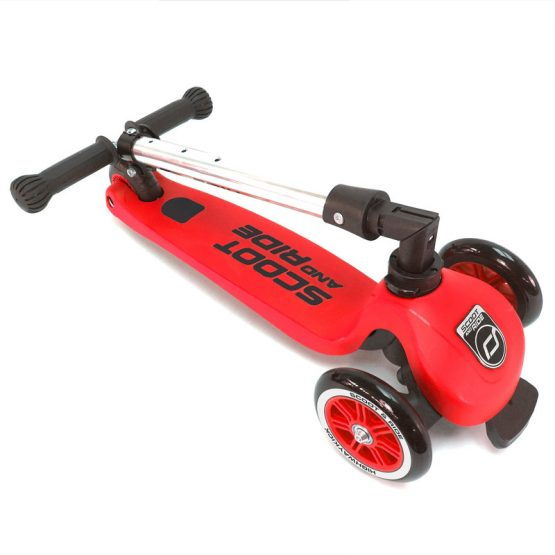 Детска тротинетка Scoot & Ride Highwaykick 3, сгъваема, Червена