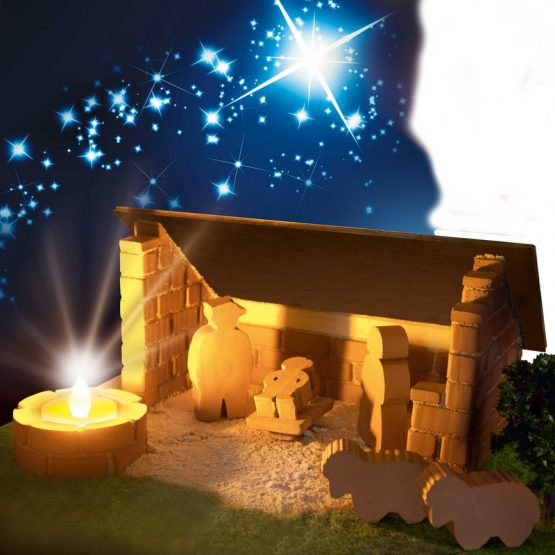 Заслон с огнище / Коледни ясли Teifoc