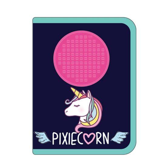 Несесер за моливи Pixie Crew PXA-04, тъмно син с еднорог