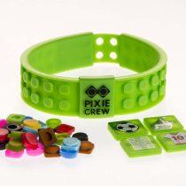 Силиконова гривна с пиксели Pixie Crew зелена