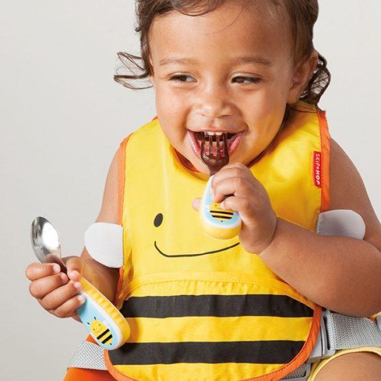 Комплект бебешки прибори виличка и лъжичка Skip Hop, пчеличка