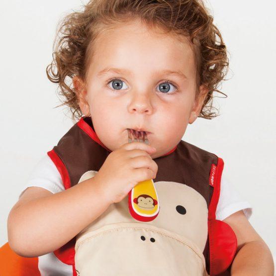 Детски комплект прибори Skip Hop виличка и лъжичка маймунка