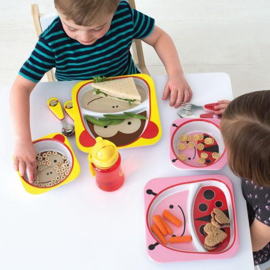 Детски комплект прибори Skip Hop виличка и лъжичка калинка