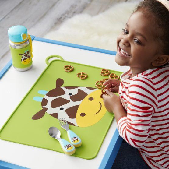Детски комплект прибори Skip Hop виличка и лъжичка жираф