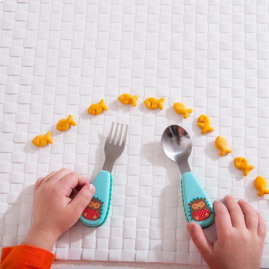 Комплект детски прибори Skip Hop виличка и лъжичка таралеж
