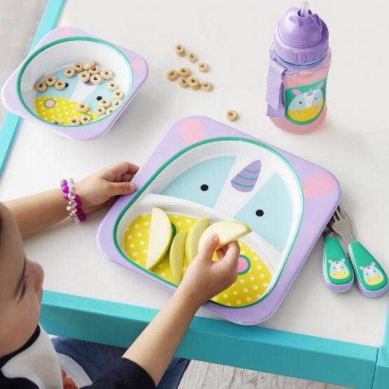 Детски комплект прибори Skip Hop виличка и лъжичка еднорог
