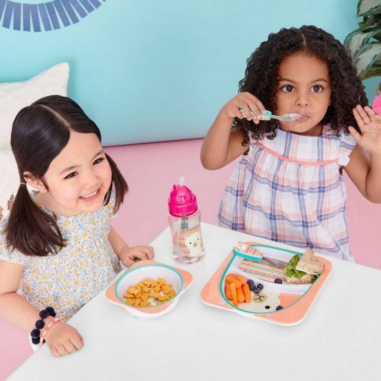 Детски комплект прибори Skip Hop виличка и лъжичка лама