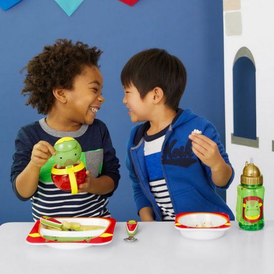Детски комплект прибори Skip Hop виличка и лъжичка дракон