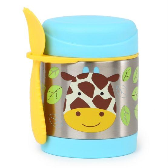 Контейнер/Термос за храна Skip Hop от неръждаема стомана, жирафче