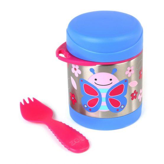 Контейнер/Термос за храна Skip Hop от неръждаема стомана, пеперудка
