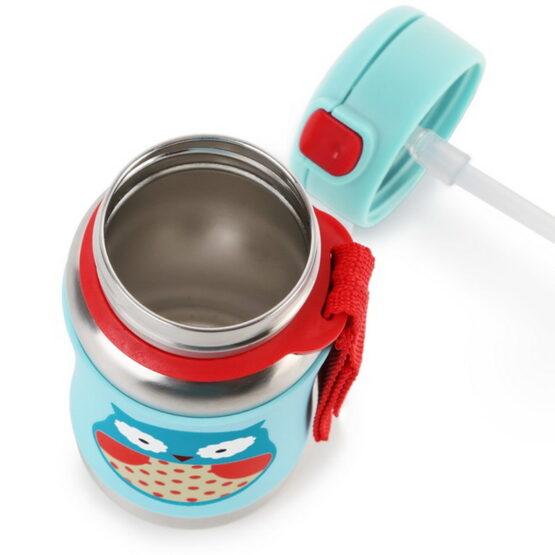 Бутилка Skip Hop от неръждаема стомана, бухалче