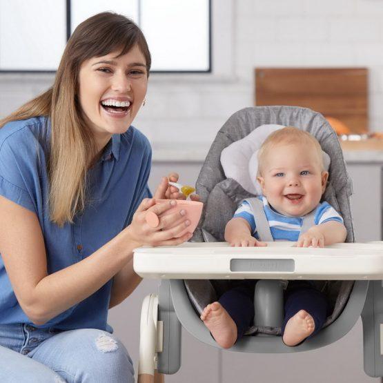 Комплект бебешки купички за хранене Skip Hop - 2 броя сиво корал
