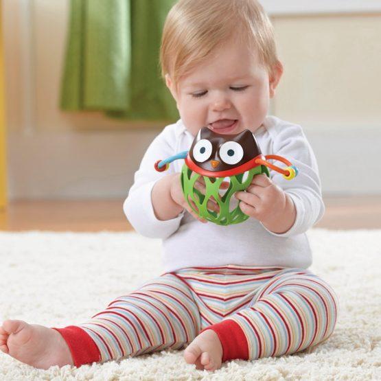 Бебешка дрънкалка Skip Hop, бухалче
