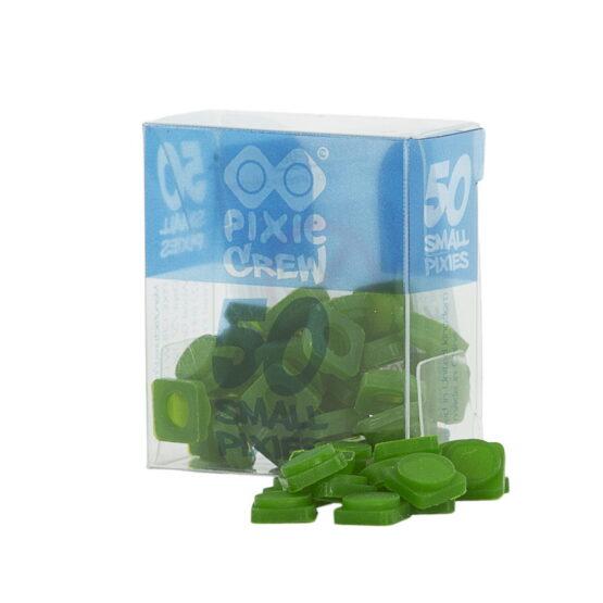 Силиконови пиксели Pixie Crew, малки – 50 бр., тъмно зелени